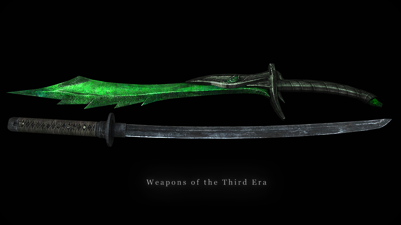 The elder scrolls v skyrim mod that will add a pack of extra weapons