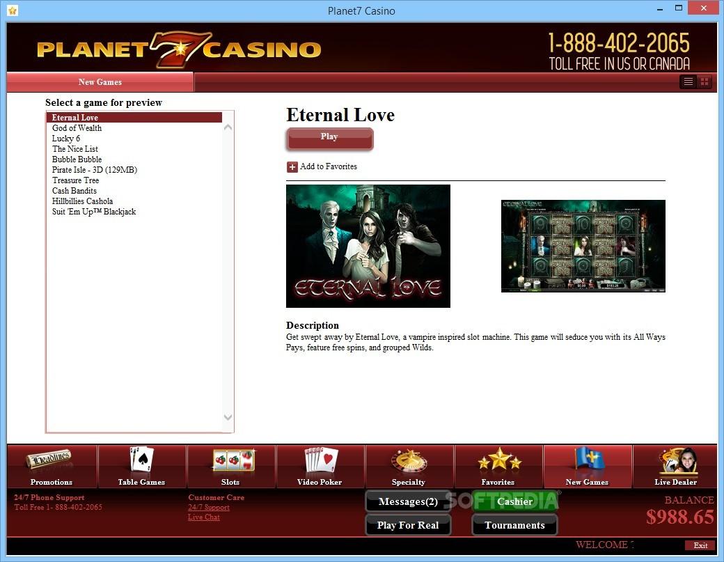 Planet 7 online casino download