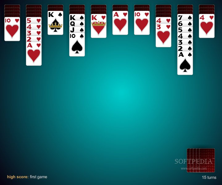 Spider Solitaire 2 Suit screenshot 2