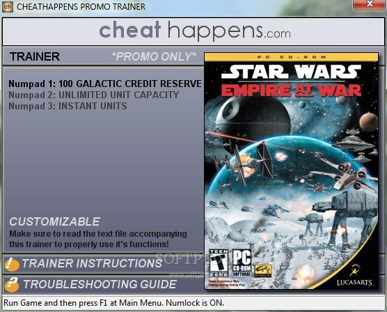 Star wars empire at war forces of corruption 1 trainer screenshot