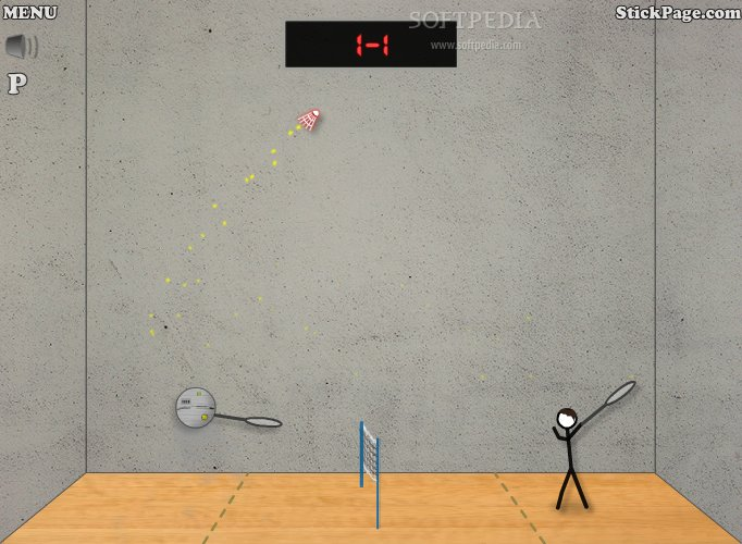 Stick Figure Badminton screenshot 2