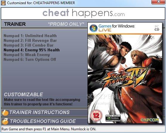 Street Fighter IV +1 Trainer Download