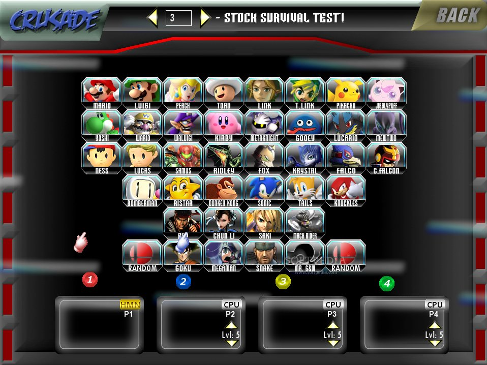 descargar super smash bros crusade v0.8.4