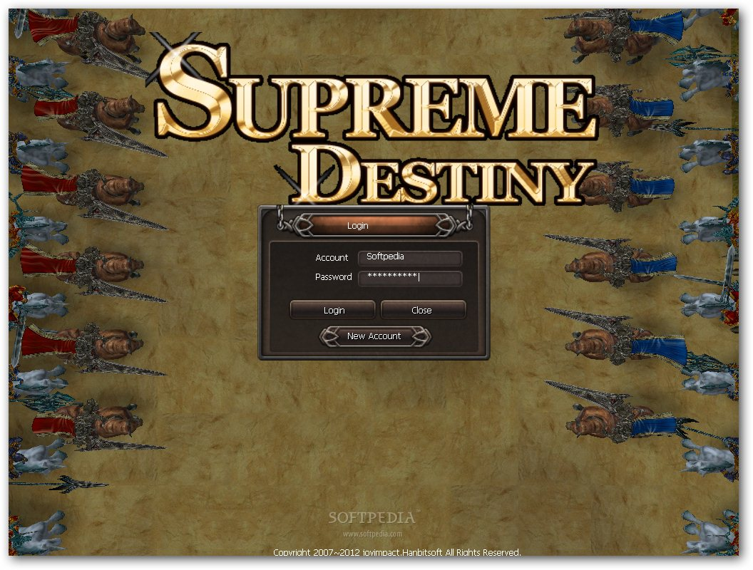 Supreme Destiny: Evolution-X Client screenshot 1