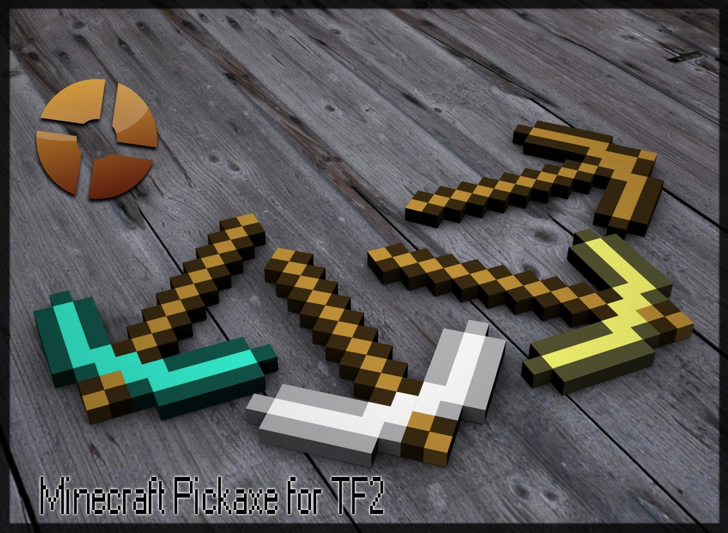 Screenshot 2 of team fortress 2 skin minecraft pickaxe