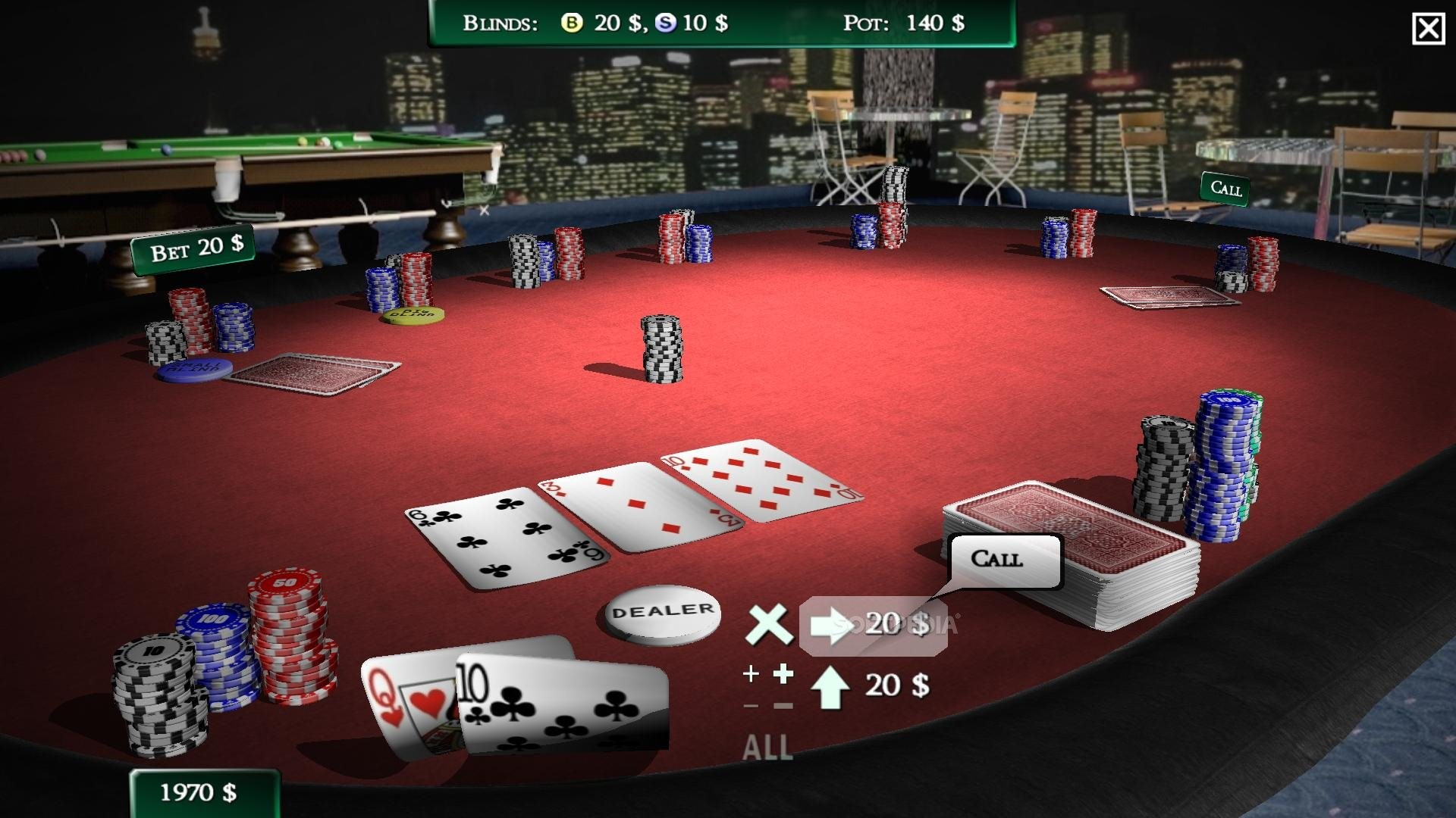 Wood poker table