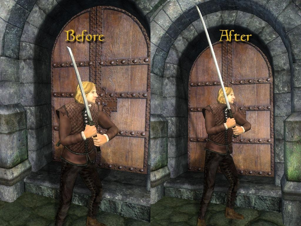 The Elder Scrolls IV: Oblivion Mod - Braided Dai Katana Replacer screenshot 2
