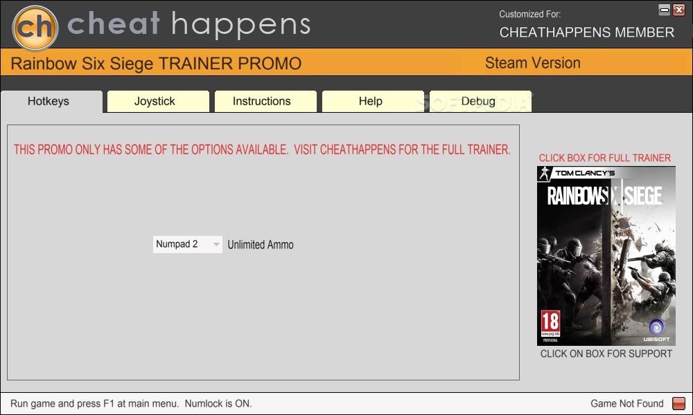 Tom Clancys Rainbow Six Siege 1 Trainer 1 - Free Game Cheats