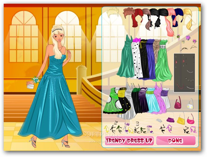 Trendy prom girl dress up