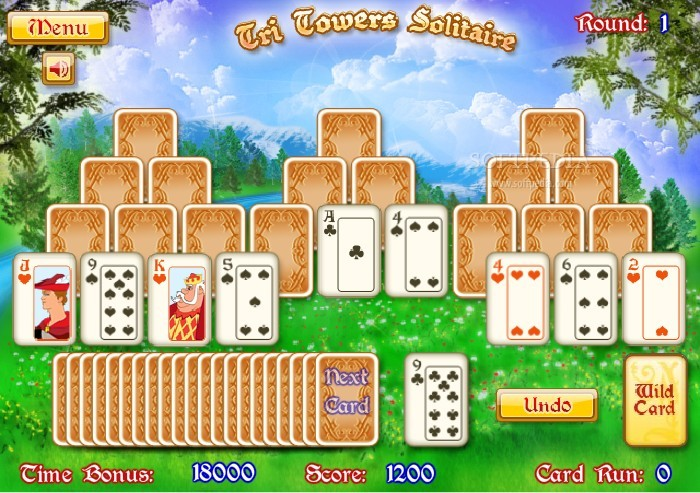 tri tower solitaire free online game