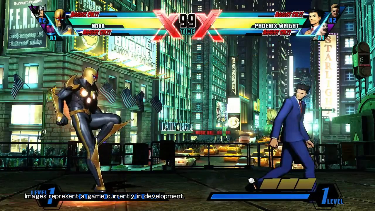 Ultimate Marvel vs Capcom 3 - Nova vs. Phoenix Wright Gameplay Trailer screenshot 3