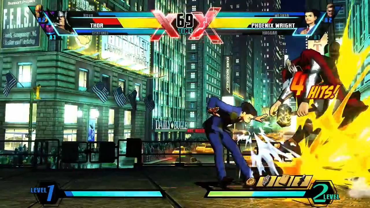 Ultimate Marvel vs Capcom 3 - Nova vs. Phoenix Wright Gameplay Trailer screenshot 7