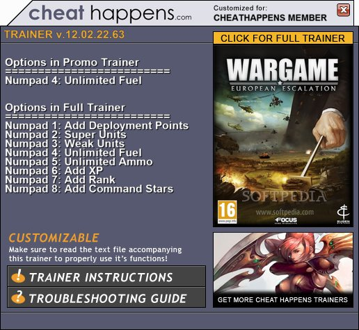 1Wargame European Escalation Trainer