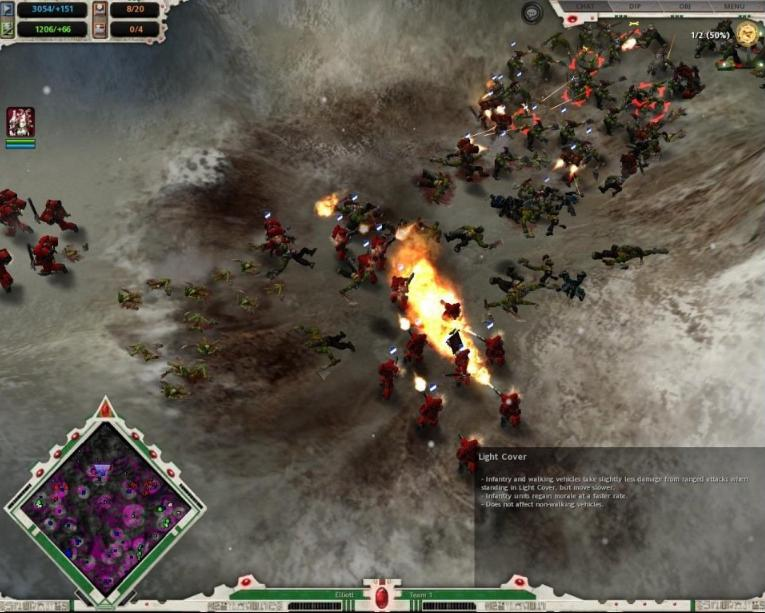Warhammer 40,000: Dawn of War Winter Assault Map - mountain bases screenshot 3