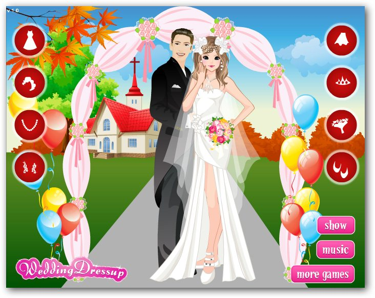 Wedding dress up games 2018 wedding dresses in redlands for Dress up games wedding