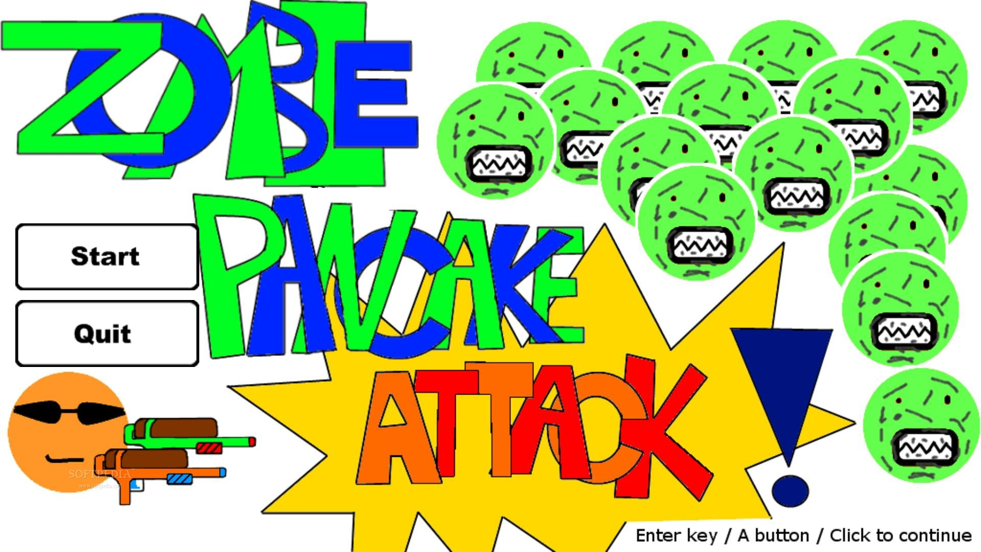 Zombie Pancake Attack screenshot 1